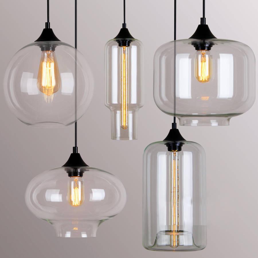 art deco glass pendant light by uniques co