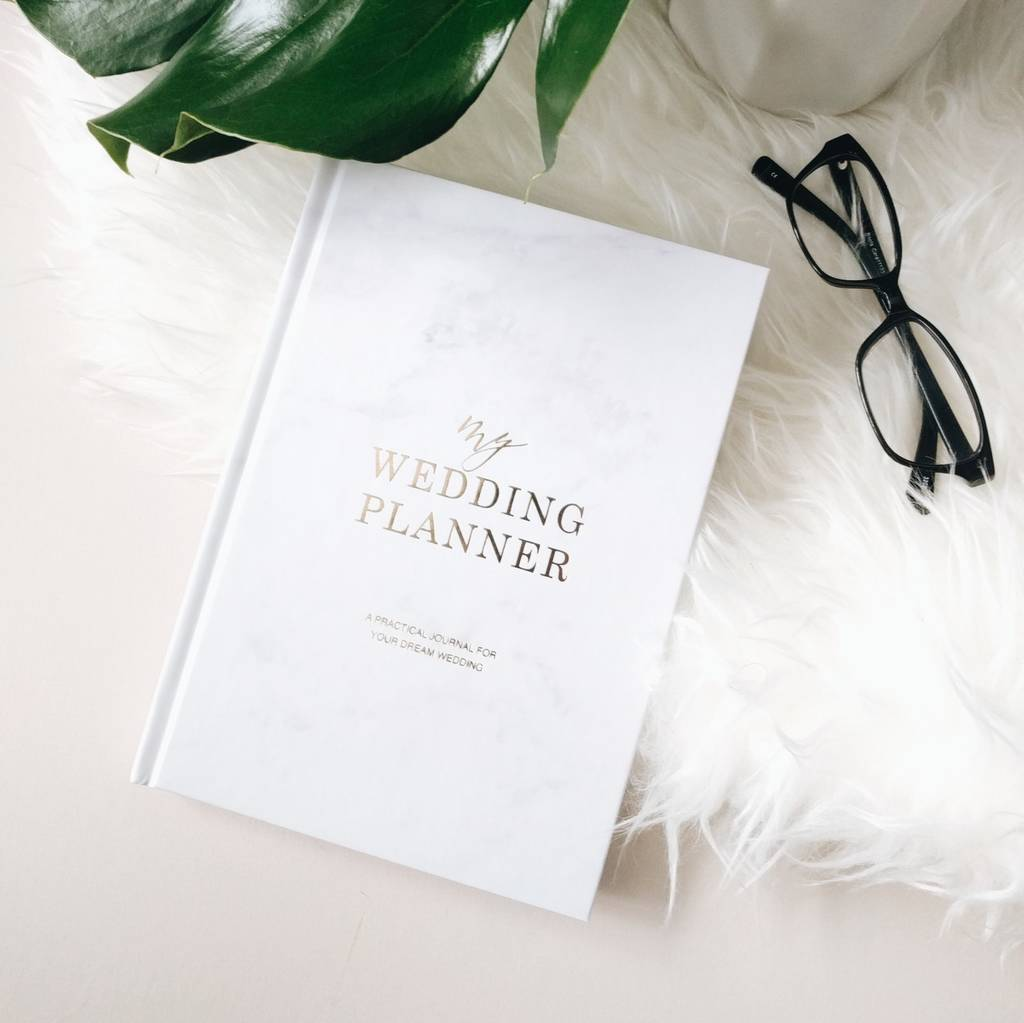 Marble And Gold Foil Wedding Planner By Blush And Gold