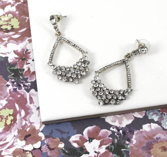 Audrey Crystal Chandelier Drop Earrings
