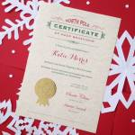 Traditional Christmas Eve Santa Nice List Certificate By Sixpence Paperie Notonthehighstreet Com