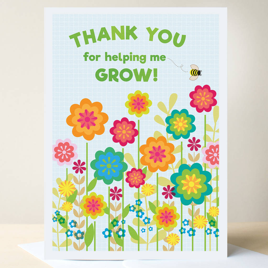 Thank You Teacher Card By Ink Pudding