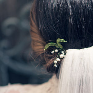 Lily Of The Valley Pearl Hair Pin Bridal Edit