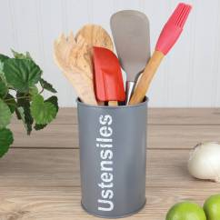 Kitchen Utensils Holder Remodel Costs Slate Grey By Dibor Notonthehighstreet Com