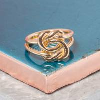 gold love knot ring by loel & co.   notonthehighstreet.com