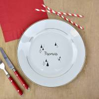 christmas dinner personalised gold plate by ellie ellie ...