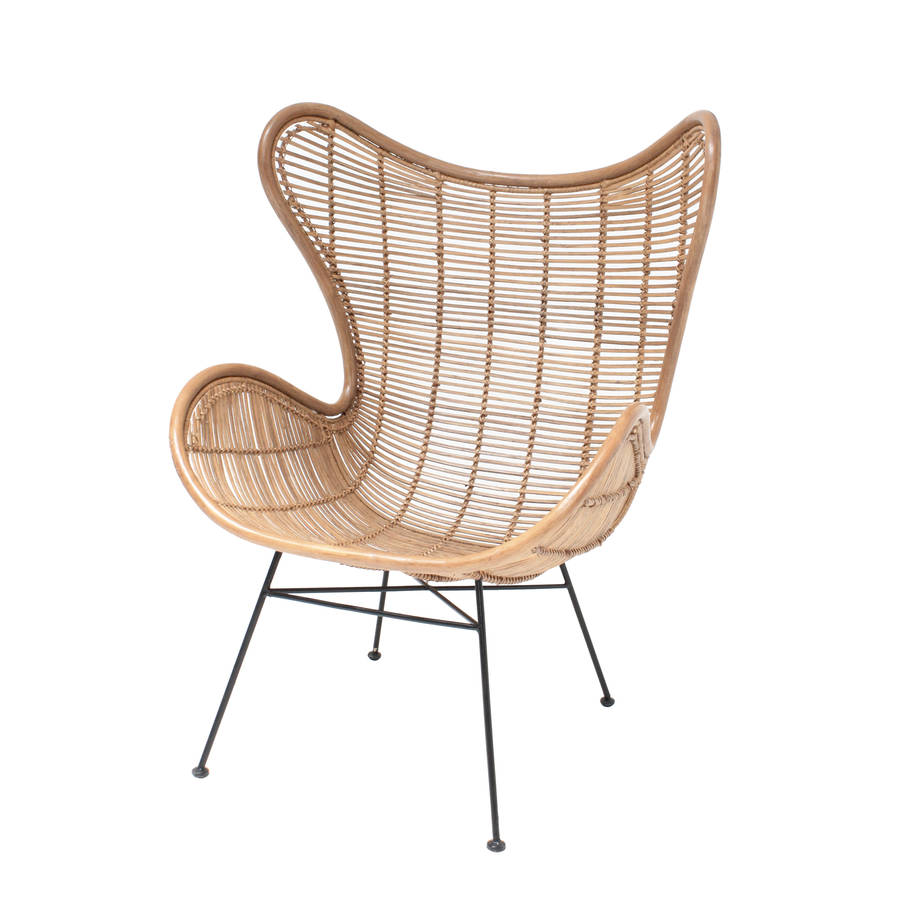 rattan egg chair in two colours by out there interiors