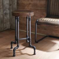 industrial steel pipe stool by brush64