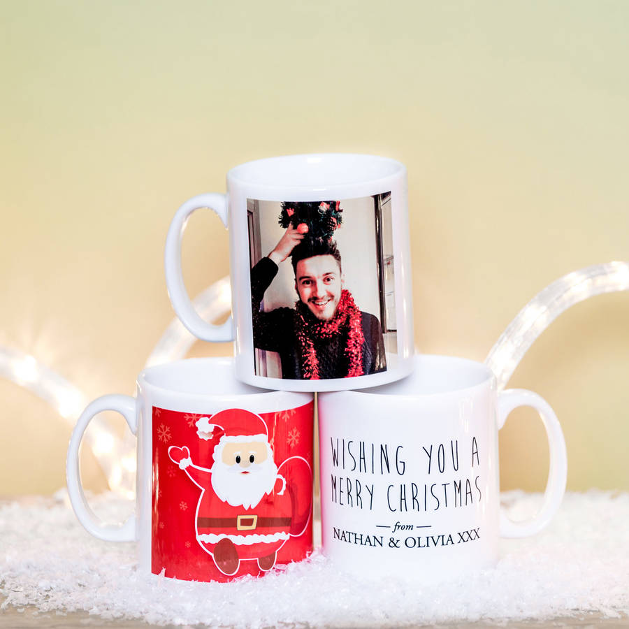 Personalised Mugs Christmas By Able Labels
