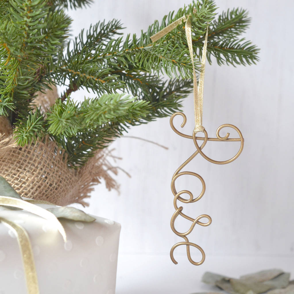 Personalised Wire Name Tree Decorations By The Letter Loft Notonthehighstreet Com