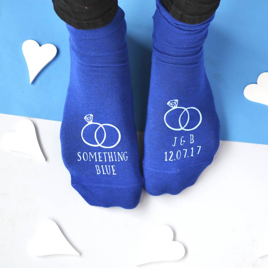 something blue personalised grooms wedding socks by solesmith  notonthehighstreetcom