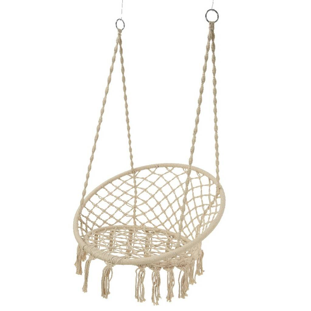 hanging chair notonthehighstreet big lots table and chairs grey macrame by ella james