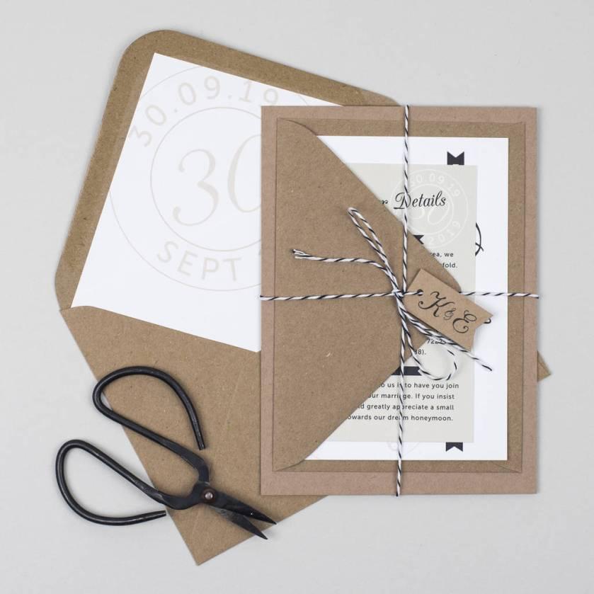 Kraft St Wedding Invitation