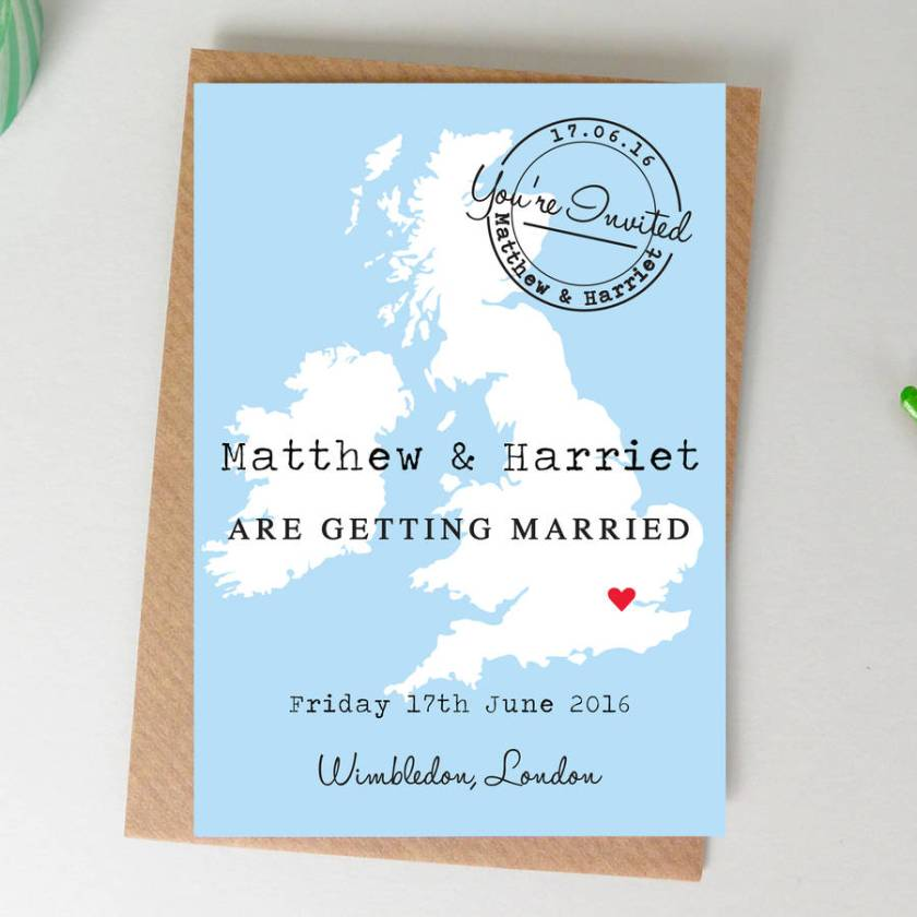 Map Wedding Invitation Deborah