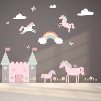 unicorn fabric wall stickers by littleprints