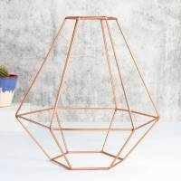 geometric copper lamp shade by lisa angel homeware & gifts