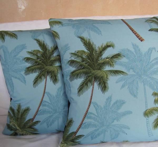 Palm Trees Cushion Cover Twentysevenpalms