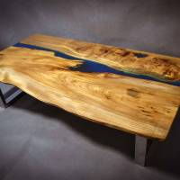 poco resina elm coffee table with resin detail by frances ...