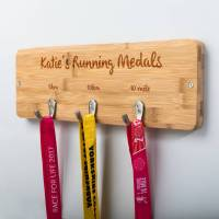 personalised running medal holder by mirrorin ...