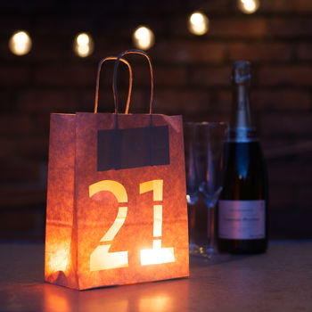 21st Birthday Bold Lantern Bag Party Decoration By