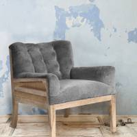 velvet arm chair by the forest & co | notonthehighstreet.com