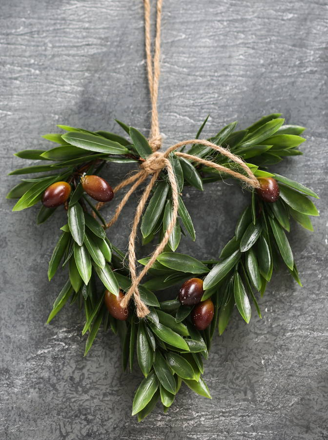 Olive Leaf Heart Wreath By The Forest Amp Co