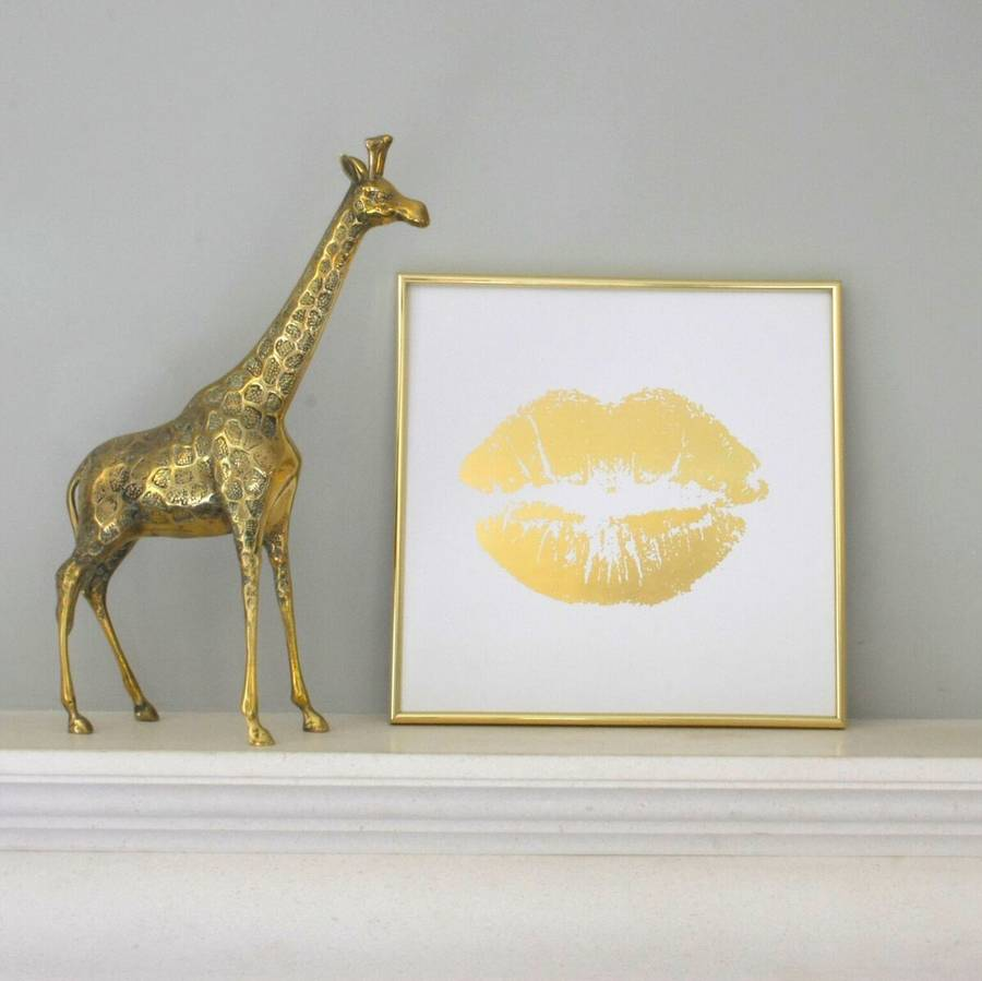 glam gold foil wall art by ella james