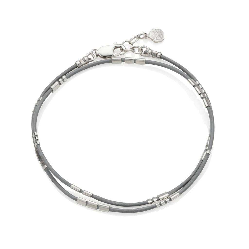 personalised ladies morse code leather wrap bracelet by