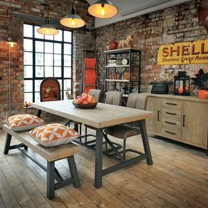 large kitchen table cheap carts sale industrial dining tables notonthehighstreet com pendlebury extendable small or