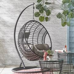 Hanging Chair Notonthehighstreet Folding Abu Dhabi Black Rattan Indoor Outdoor By Ella James