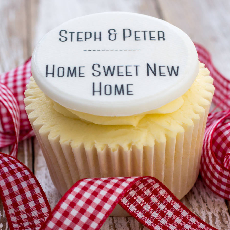 New Home Cupcake Toppers By Just Bake Notonthehighstreet Com