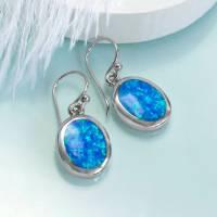 sterling silver oval opal earrings by martha jackson ...
