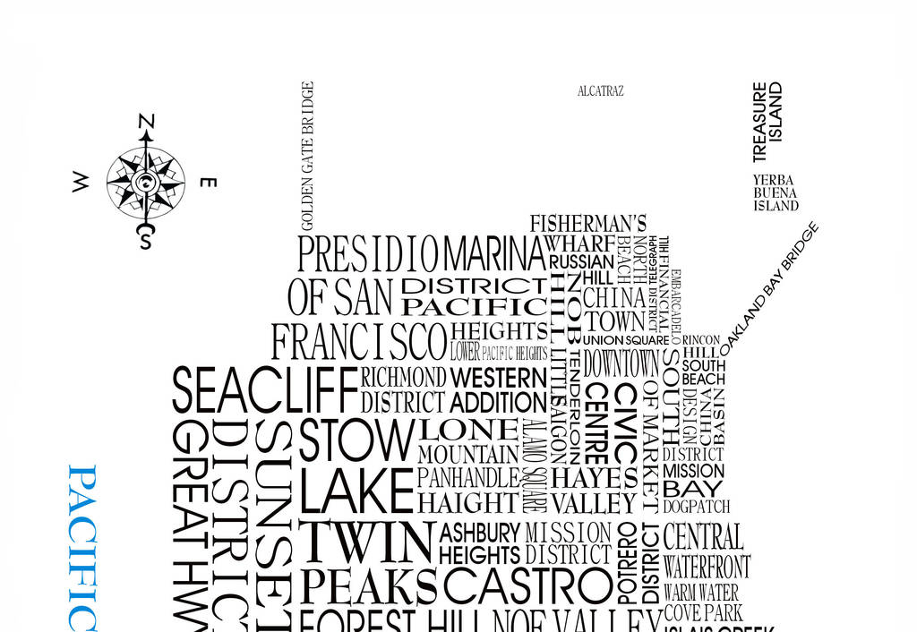 san francisco word map by adrian mcmurchie