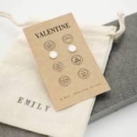 valentines love heart earrings by wue | notonthehighstreet.com