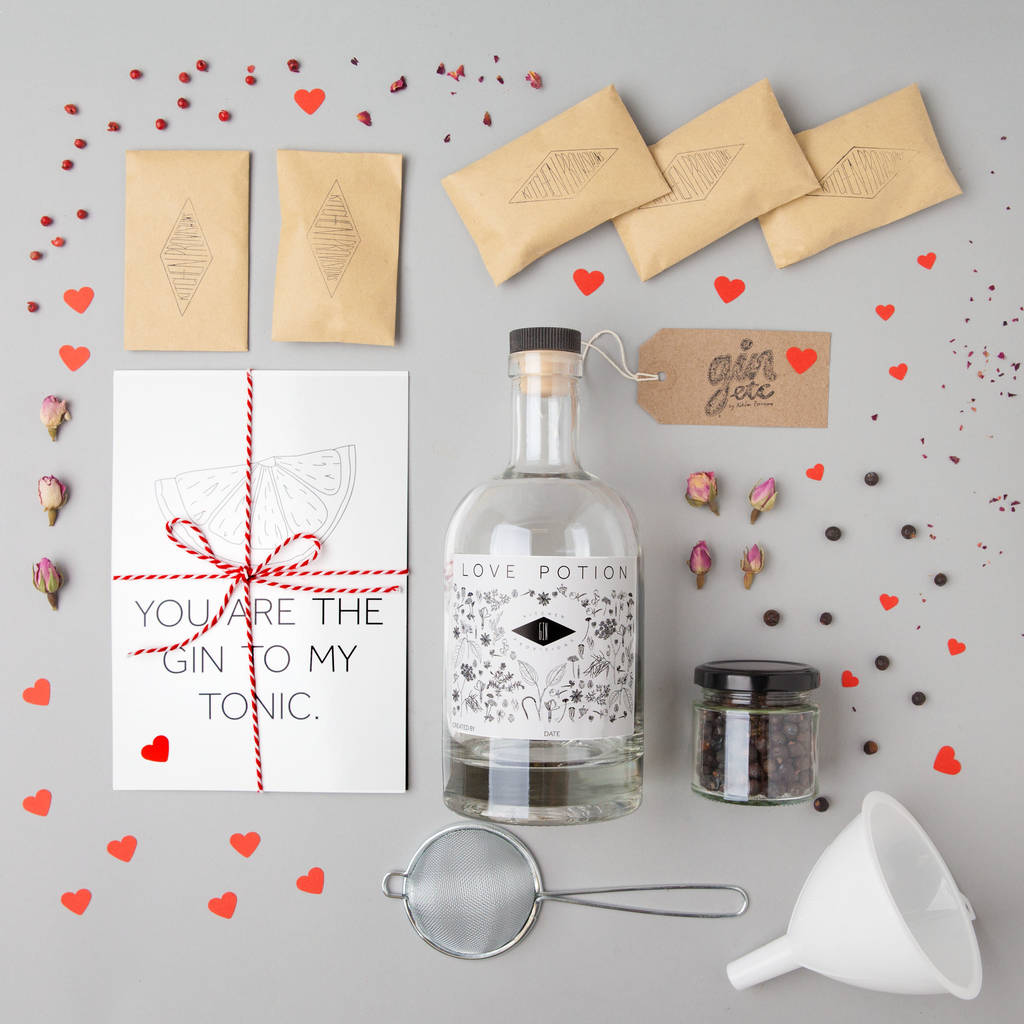 make your own love potion gin kit by kitchen provisions