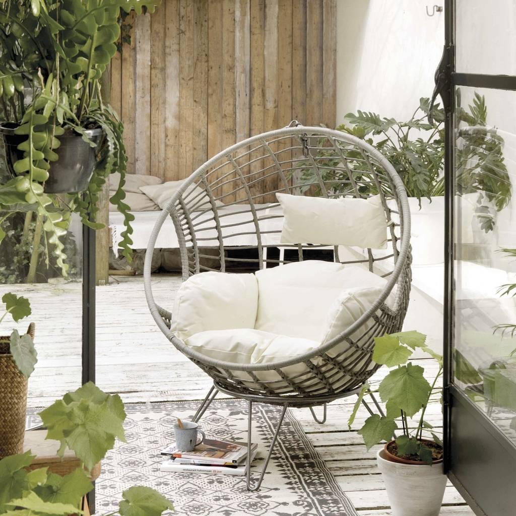 hanging chair notonthehighstreet flipkart black rattan indoor outdoor by ella james grey