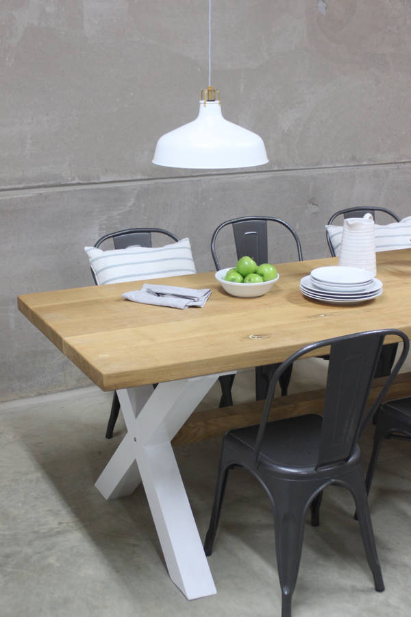 oak kitchen table white cabinets design king s cross dining with x frame
