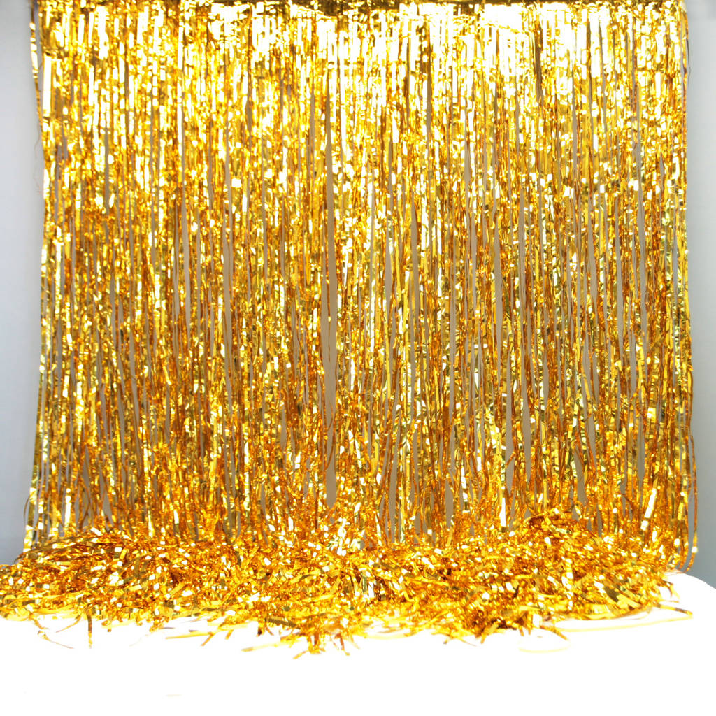 gold foil party curtain