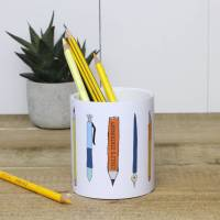 personalised ceramic pencil and pen holder by a piece of ...