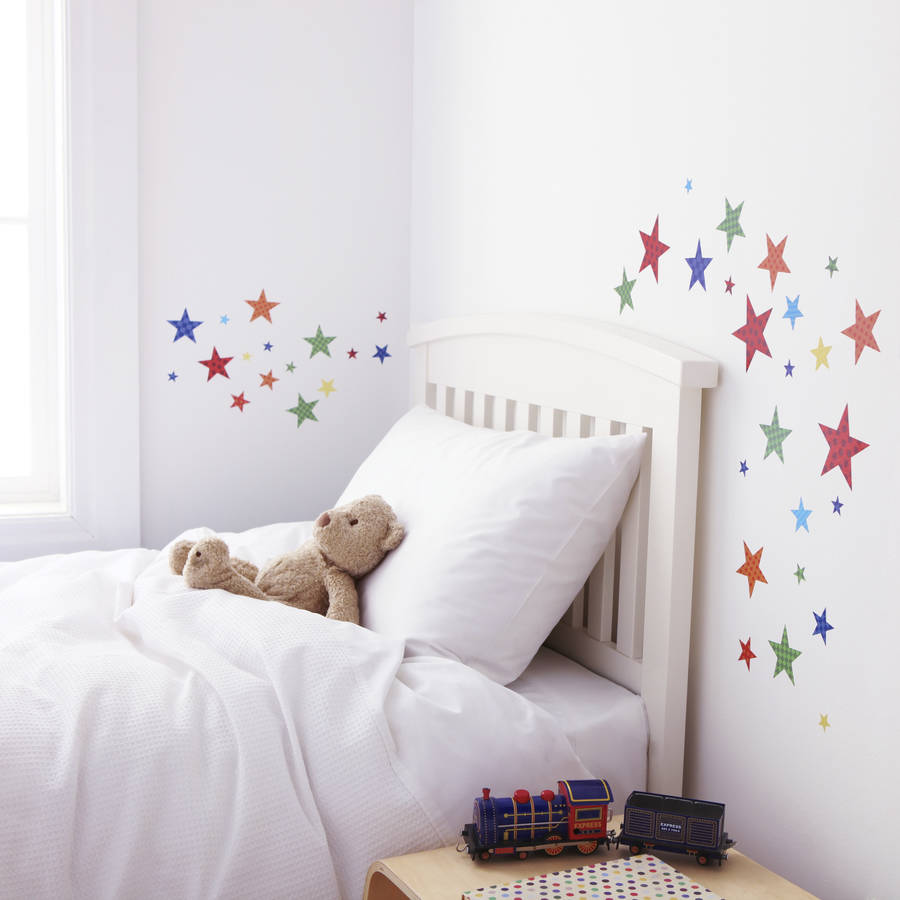 childrens bright star wall stickers by kidscapes  notonthehighstreetcom