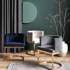 Blue Velvet Living Room Chairs Options Gold, Brass Framed Chair By The Forest & Co ...