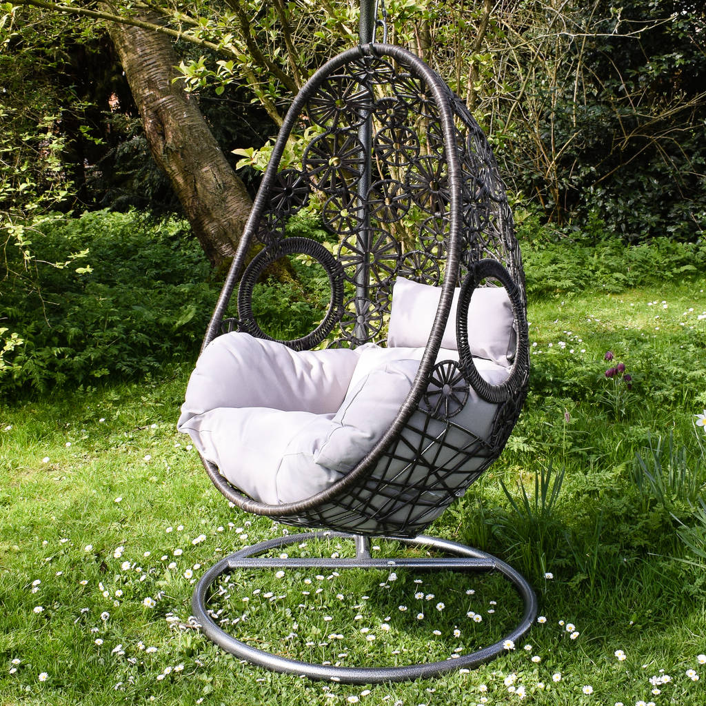 Outdoor Hanging Egg Chair Macrame Hanging Egg Chair By Ella James