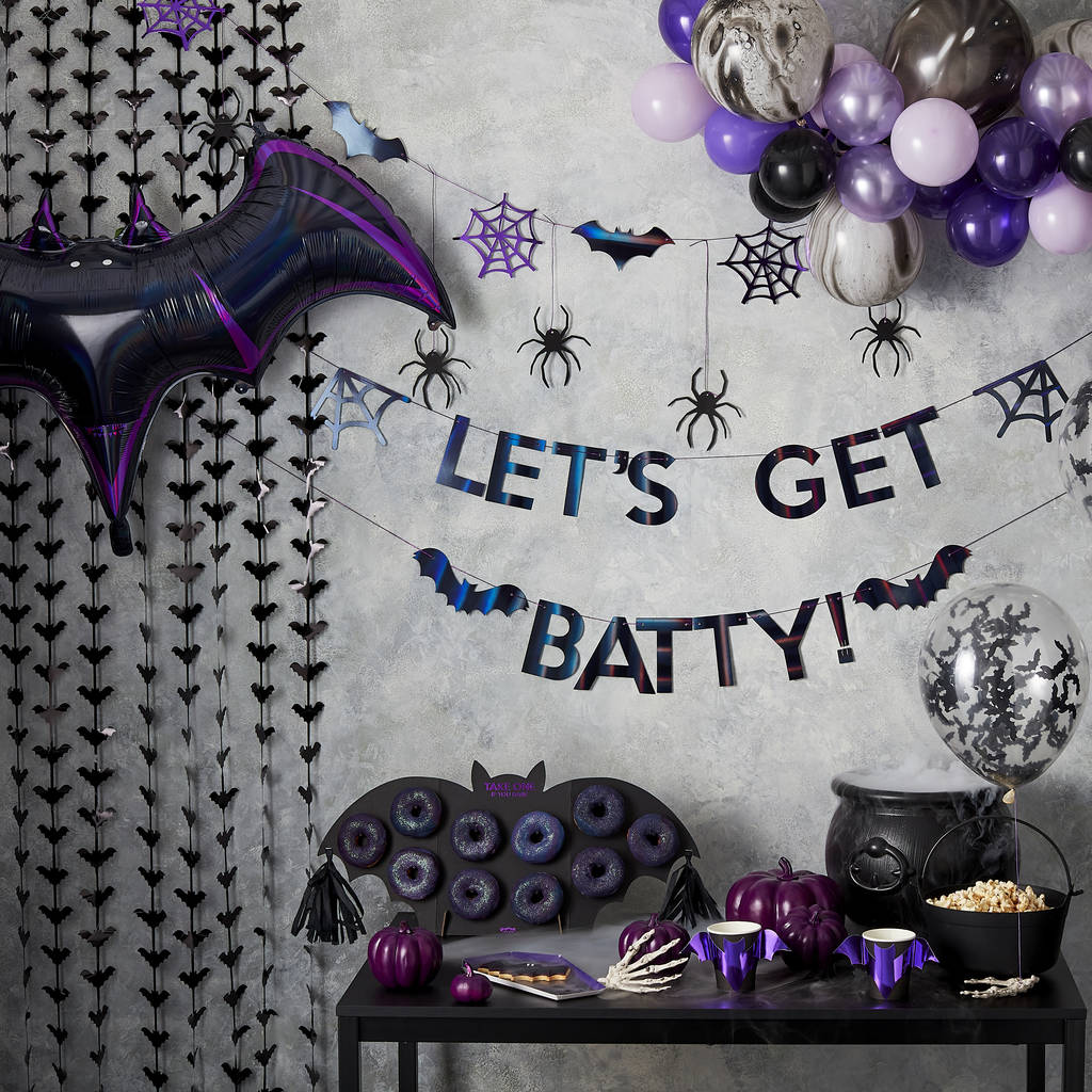 Black Bat Halloween Backdrop Fringe Decoration By Ginger