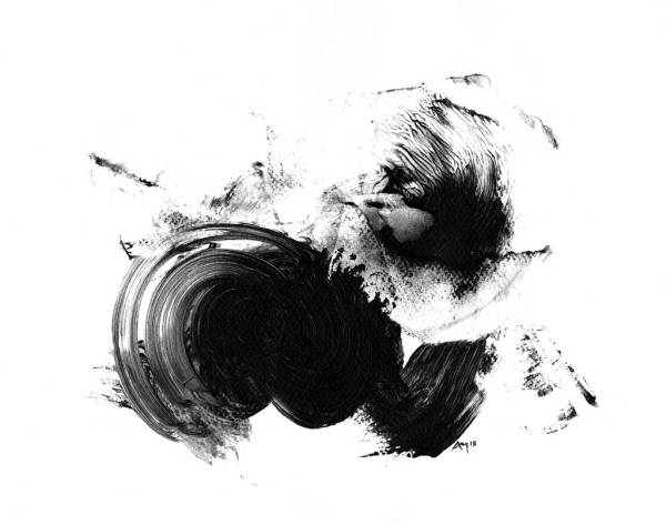 Abstract Art Print Black And White Paul Maguire