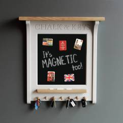 Kitchen Blackboard Food Storage Chalkboards Notonthehighstreet Com Chalk Board And Magnetic Noticeboard With Key Rack
