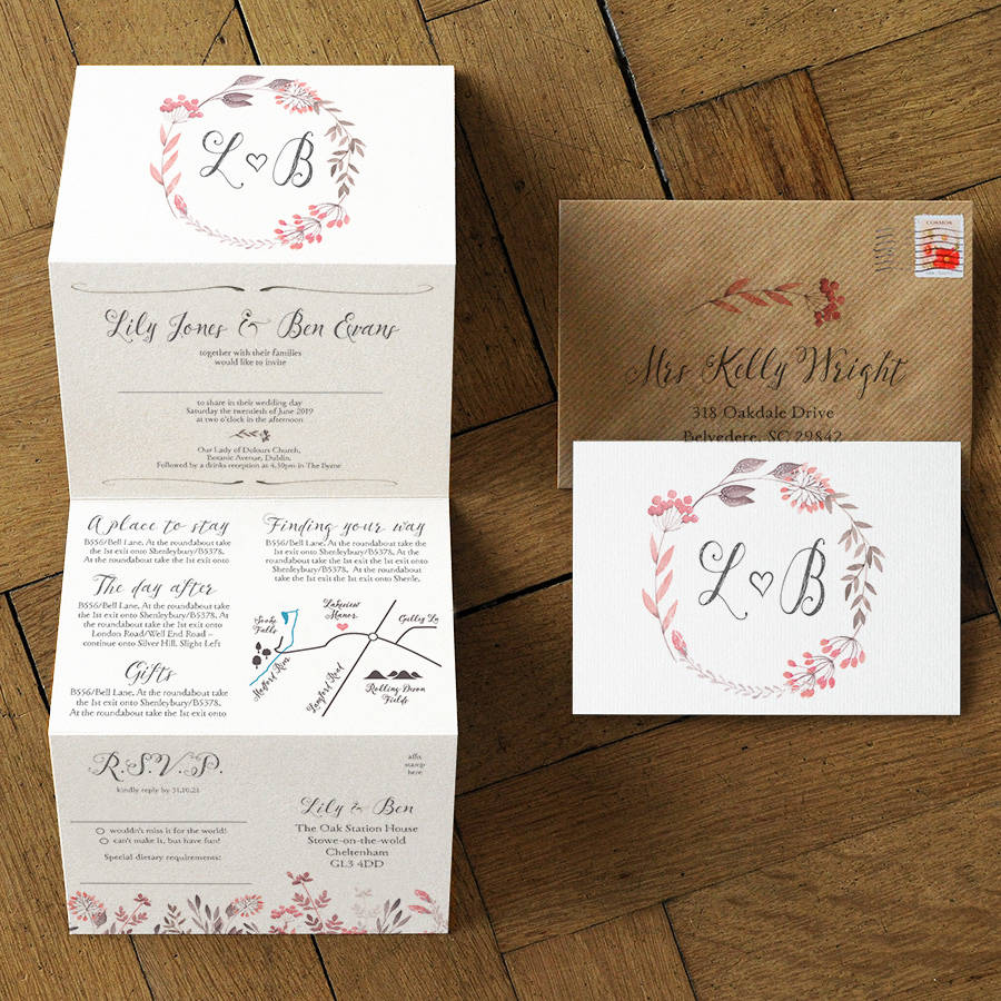 summer meadow wedding invitation set by feel good wedding invitations  notonthehighstreetcom