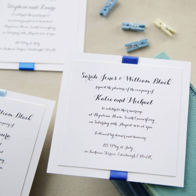 Elegance Blue Wedding Invitation