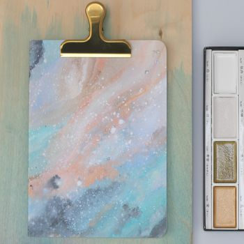 Aqua And Bronze Galaxy Notebook cheap gift ideas for teen girls