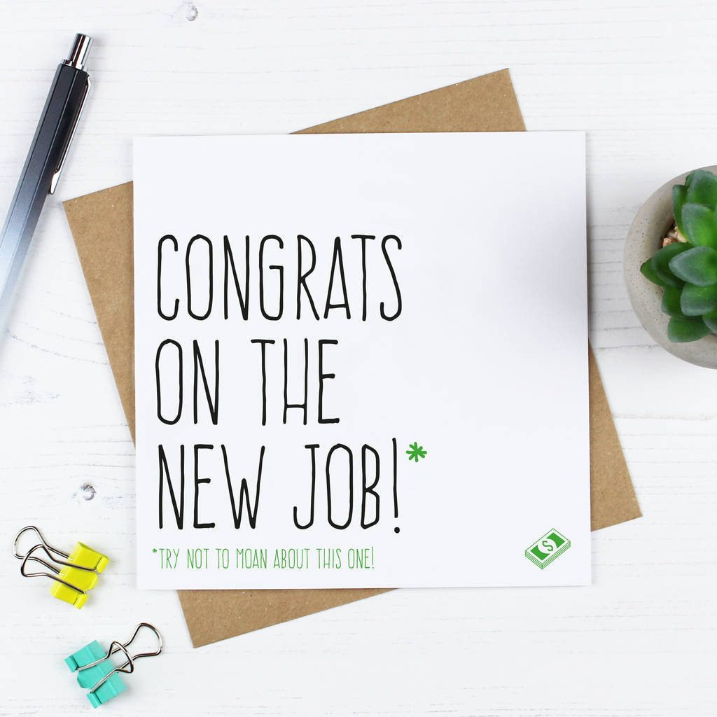 congratulations on new job card