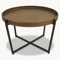 granville round metal coffee table by one.world ...