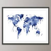 world map canvas art print by artpause ...